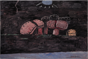 LOT 53 B PHILIP GUSTON (1913-1980) Moonlight  oil on canvas 46 x 68 1/2 in. (121.9 x 174 cm.) ESTIMATE $5,000,000 - $7,000,000   RITIRATO
