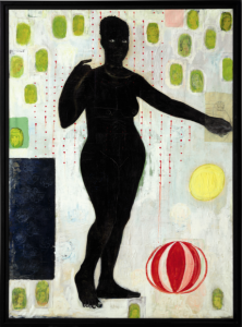 LOT 54 B Kerry James Marshall (b. 1955) You Must Suffer if You Want to be Beautiful acrylic, graphite, crayon, paper collage and printed paper collage on canvas 76 1/8 x 55 7/8 in. (193.3 x 141.9 cm.) ESTIMATE $2,000,000 - $3,000,000   PRICE REALIZED 2,292,500