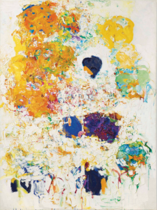 LOT 6 B Joan Mitchell (1925-1992) Blueberry oil on canvas 78 7/8 x 59 in. (200 x 150 cm.) ESTIMATE $5,000,000 - $7,000,000   PRICE REALIZED 16,625,000
