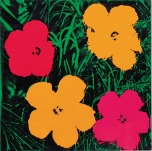 LOT 63 B ANDY WARHOL (1928-1987)  Flowers  synthetic polymer and silkscreen inks on canvas 24 x 24 in. (61 x 61 cm.) ESTIMATE $1,800,000 - $2,500,000   PRICE REALIZED 2,112,500