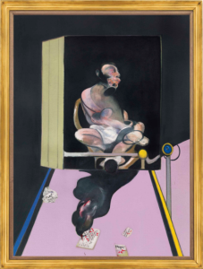LOT 7 B Francis Bacon (1909-1992) Study for Portrait oil and dry transfer lettering on canvas 78 x 58 1/8 in. (198.2 x 147.7 cm.) ESTIMATE Estimate on request   PRICE REALIZED 49,812,500