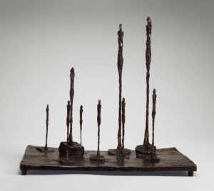 Lot 17 A ALBERTO GIACOMETTI (1901-1966) La Clairière bronze with brown patina Height: 23 3/8 in. (59.4 cm.) Length: 25 ¾ in. (65.4 cm.) Width: 20 ½ in. (52.1 cm.)  estimate $10,000,000 - $15,000,000  PRICE REALIZED 15,781,250