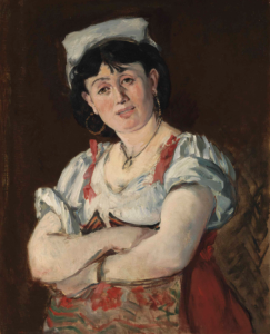 Lot 29 A Edouard Manet (1832-1883) L'Italienne oil on canvas 28 7/8 x 23 ¾ in. (73.3 x 60.5 cm.)  estimate $3,000,000 - $5,000,000  PRICE REALIZED 11,000,000