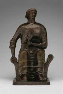 Lot 3 A Henry Moore (1898-1986) Seated Figure bronze with brown patina Height: 17 1/8 in. (43.5 cm.)  estimate $1,000,000 - $1,500,000  PRICE REALIZED 912,500