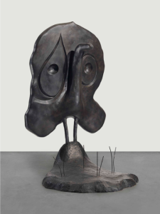 Lot 33 A Joan Miró (1893-1983) Personnage bronze with dark brown patina Height: 79 5/8 in. (202.2 cm.)  estimate $800,000 - $1,200,000  UNSOLD