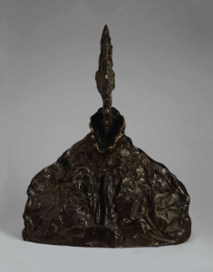 Lot 6 A ALBERTO GIACOMETTI (1901-1966) Buste d'homme (Diego au blouson) bronze with brown patina Height: 13 7/8 in. (35.4 cm.)  estimate $6,000,000 - $9,000,000  PRICE REALIZED 9,087,500