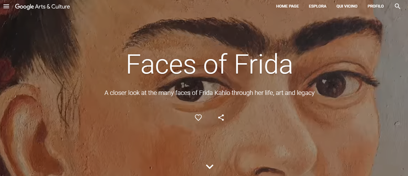 Frida Kahlo, Google Arts & Culture, Faces of Frida