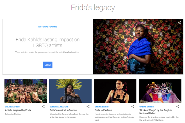 Frida Kahlo, Google Arts & Culture, Faces of Frida, moda, musica