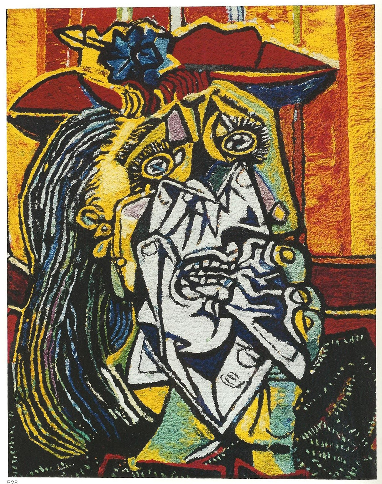 VIK MUNIZ Weeping Woman, After Picasso (From Pictures of Pigment), 2007 Stampa cromogenica 226.1 x 180.1 cm COURTESY Vitart SA