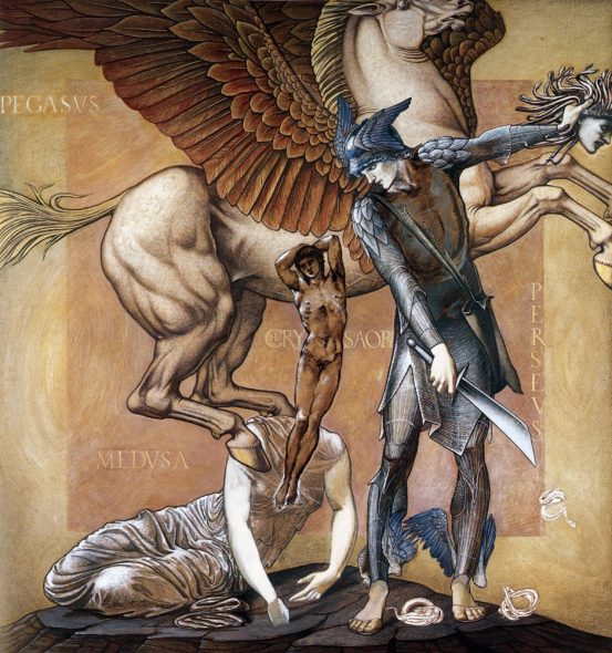 Edward Burne-Jones The Death of Medusa I c. 1882 Bodycolor on paper, 1525 x 1365 mm Southampton City Art Gallery