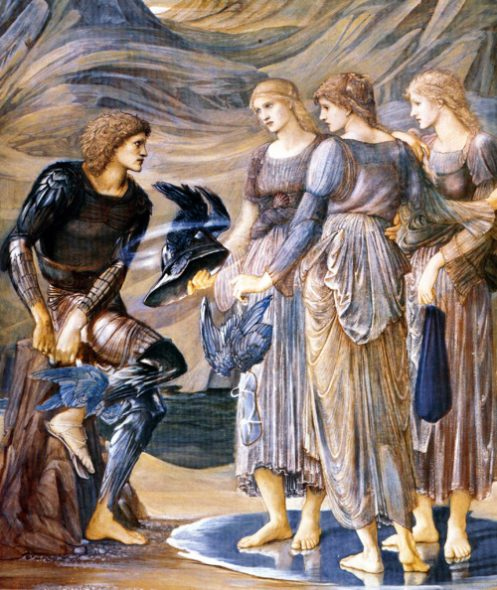 Edward Burne-Jones Perseus and the Sea Nymphs (The Arming of Perseus) 1877 Bodycolor on paper, 1528 x 1264 mm Southampton City Art Gallery