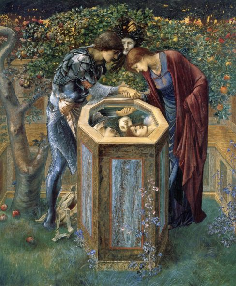 Edward Burne-Jones The Baleful Head 1885 Bodycolor on paper, 153 x 129 cm Southampton City Art Gallery