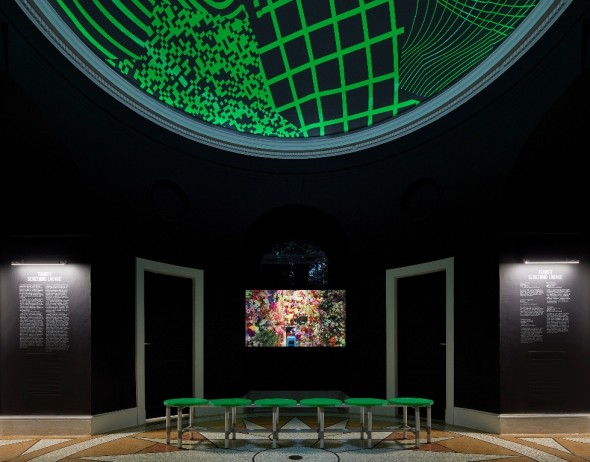Transit Screening Lounge at the 2018 U.S. Pavilion. Photo © Tom Harris. Courtesy of the School of the Art Institute of Chicago and the Universit