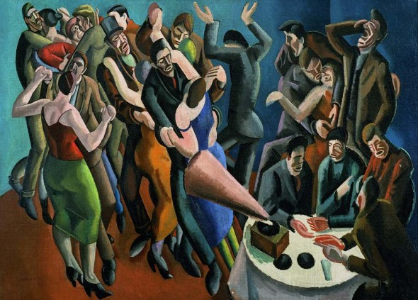 William Roberts - Dance Club, 1923 Leeds Museums and Galleries © Estate of John David Roberts. By permission of the Treasury Solicitor