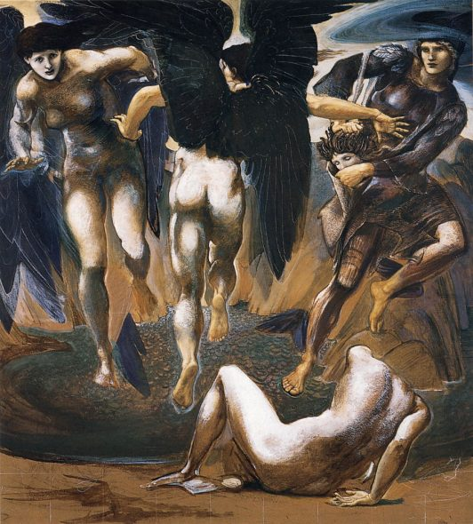 Edward Burne-Jones The Death of Medusa II c. 1882 Bodycolor on paper, 1525 x 1365 cm Southampton City Art Gallery