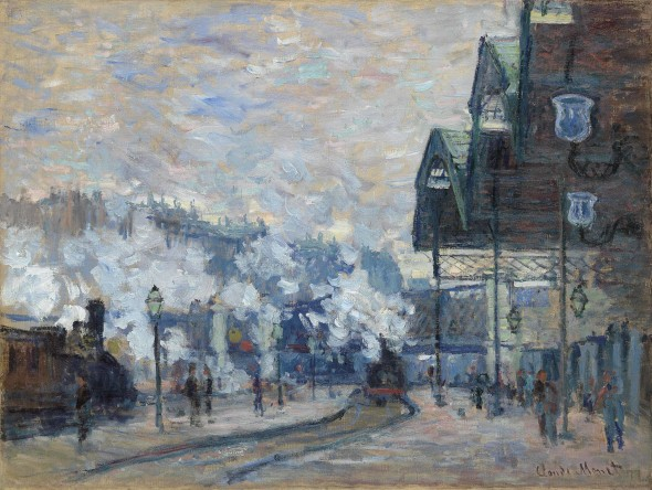 LOT 25 B Claude Monet (1840-1926) La Gare Saint-Lazare, vue extérieure oil on canvas 23 ¾ x 31 5/8 in. (60.4 x 80.2 cm.) ESTIMATE Estimate on request   PRICE REALIZED  GBP 24,983,750
