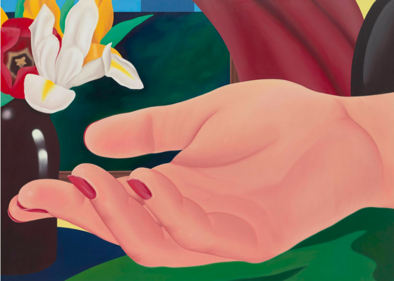 Tom Wesselmann, Gina's Hand, 1972-82, oil on canvas, 59 x 82 inches © The Estate of Tom Wesselmann/ Licensed by VAGA, New York © ADAGP, Paris 2018.