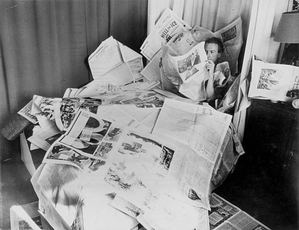 Sunday Morning Self-Portrait with New York Times by Cecil Beaton, 1937