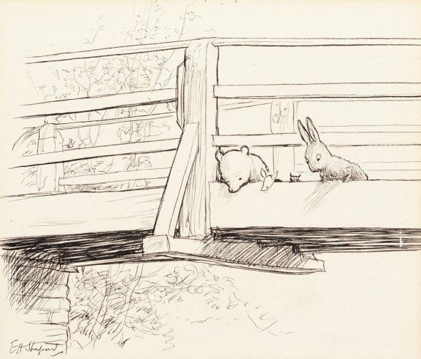 E.-H.-Shepard_Two-ink-drawings-from-The-House-at-Pooh-Corner-I_-1024x874