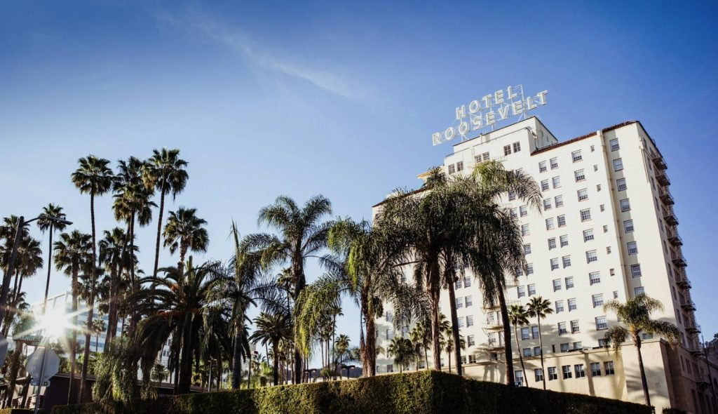 The Hollywood Roosevelt Hotel. Courtesy of the Hollywood Roosevelt Hotel.