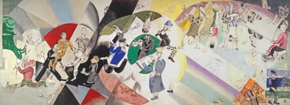 Marc Chagall, Introduction to the Jewish Theatre, 1920, Tretyakov Gallery
