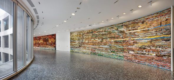 Mark Bradford: Pickett's Charge at the Hirshhorn Museum and Sculpture Garden, photo: Cathy Carver