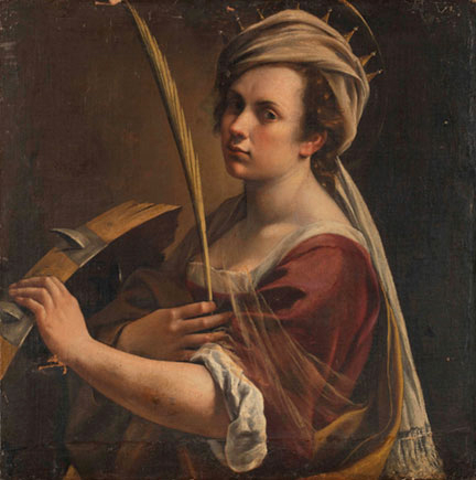 Artemisia Gentileschi Autoritratto come Santa Caterina ©National Gallery