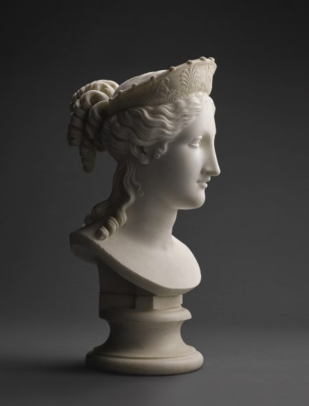 Antonio Canova (1757-1822) Italian, Rome, 1814 BUST OF PEACE white marble, on a white marble socle 53cm., 20 7/8 in. including the socle