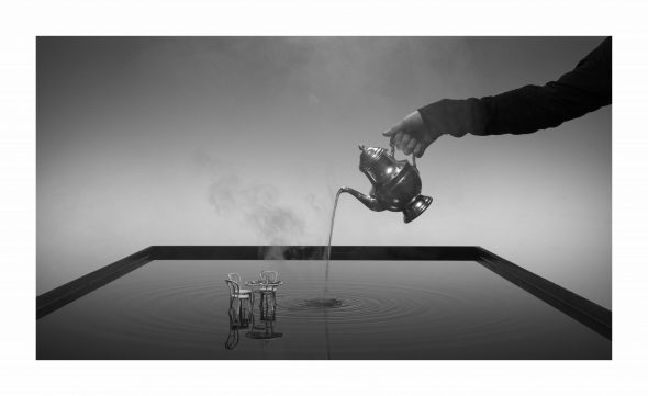 Hans Op De Beeck SS3 set photo (3) 2018 Lambda print mounted on Dibond and covered with Plexiglas 135 x 4 x 82,5 cm Courtesy: the artist and GALLERIA CONTINUA, San Gimignano / Beijing / Les Moulins / Habana Photo by: Studio Hans Op de Beeck