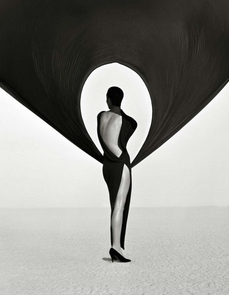 Herb Ritts Versace Dress Back View, El Mirage 1990