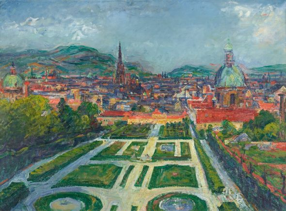 Gerhart Frankl - View on Vienna from Belvedere (Landscape II), 1948 Photo Johannes Stoll © Belvedere