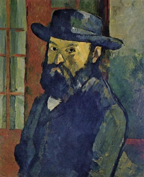 Paul Cézanne Autoritratto con cappello