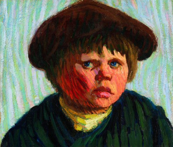 Roderic O'Conor - Head of a Breton Boy with a Cap, 1893 Collezione privata Ph. Roy Hewson