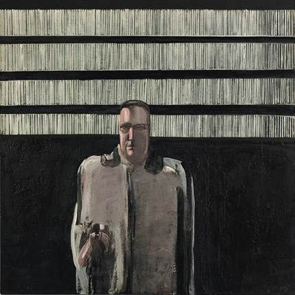Michelangelo Pistoletto. L'uomo nero, 1959 Signed (lower right); signed and dated (on the stretcher) Oil on canvas 120 x 120 cm 47 1/4 x 47 1/4 in Courtesy Mazzoleni