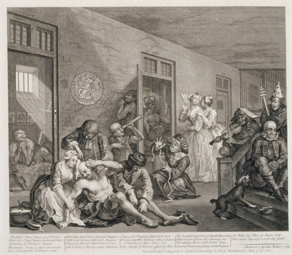 William Hogarth - A Rake's Progress, Plate 8, 1735 The Withworth Gallery