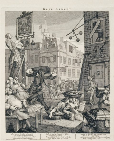 William Hogarth - Beer Street, 1750 The Whitworth Gallery