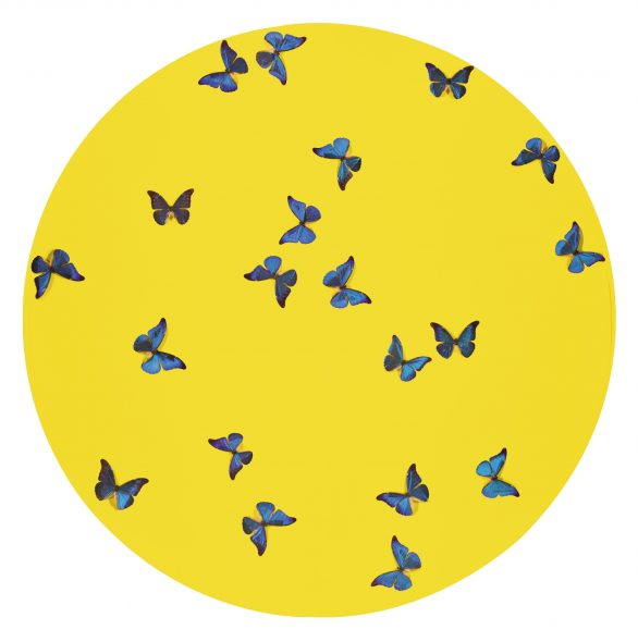 Damien Hirst SMASHING YELLOW BALL AT PEACE PAINTING Estimate 100,000 — 150,000 GBP LOT SOLD. 298,000 GBP