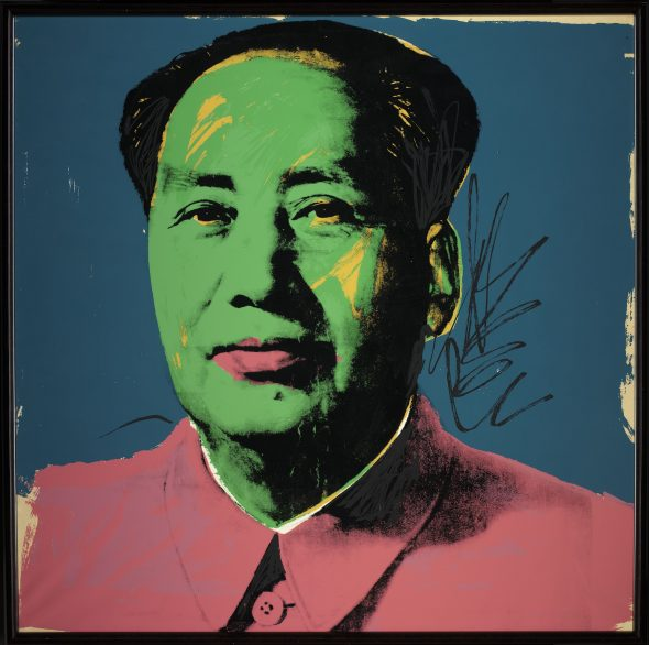 Andy Warhol , Mao, 1973 © 2018 Andy Warhol Foundation for the Visual Arts
