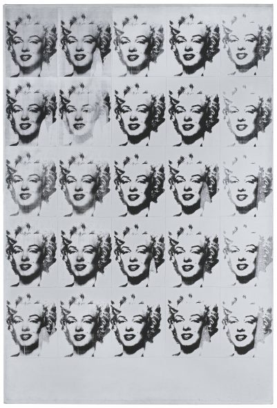 Andy Warhol, Marilyn Monroe in Black and White (Twenty-Five Marilyns), 1962 © 2018 Andy Warhol Foundation for the Visual Arts