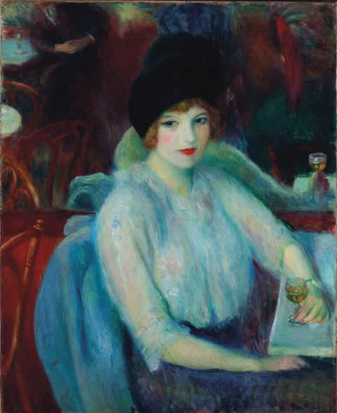 William James Glackens (1870-1938), Cafe Lafayette (Portrait of Kay Laurell), painted in 1914. Oil on canvas. 32 x 26 in (81.3 x 66 cm). Offered in An American Place: The Barney A. Ebsworth Collection Evening Sale, November 2018