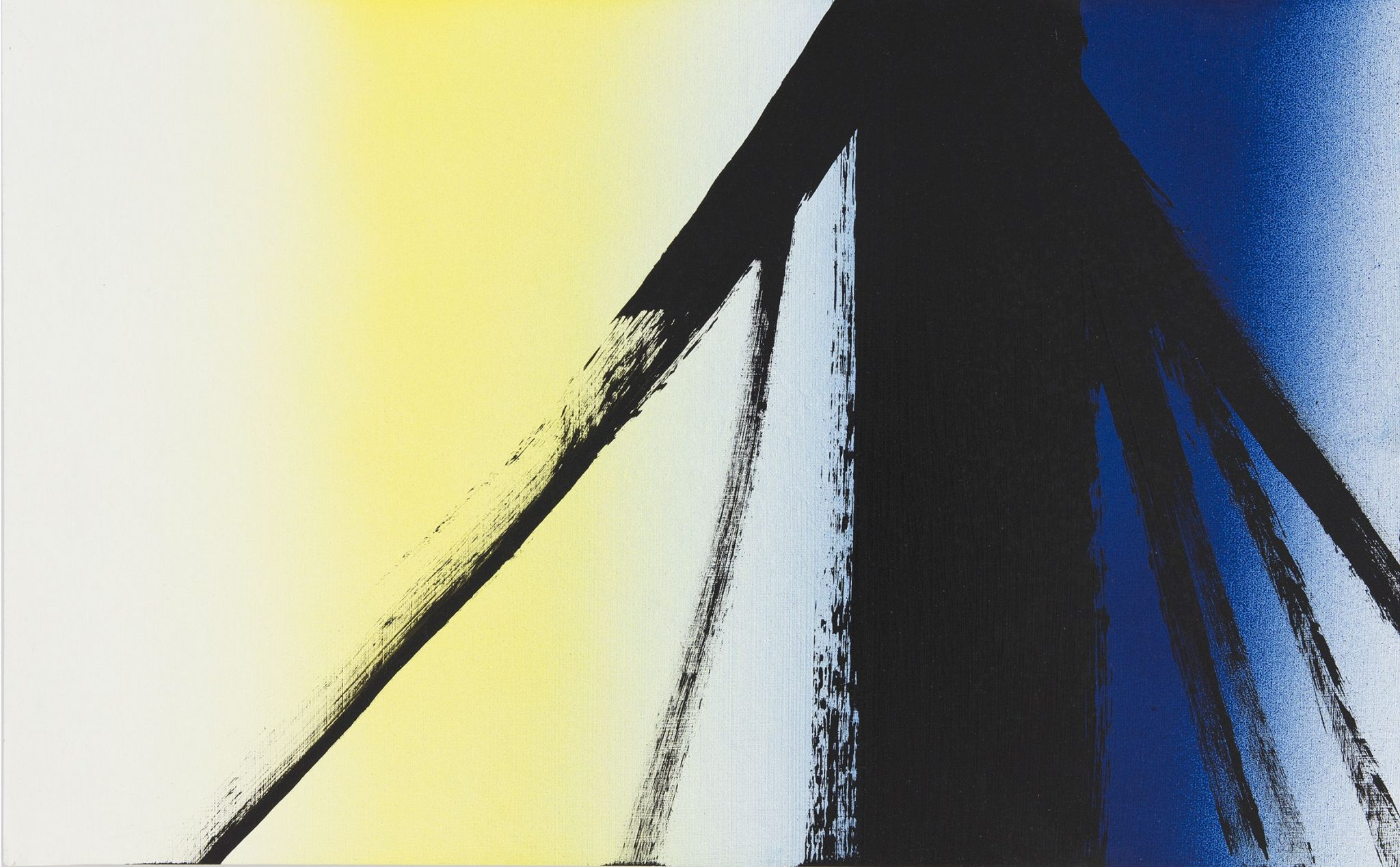 Hans Hartung, T1977-E2, Acrilico su masonite, 1977