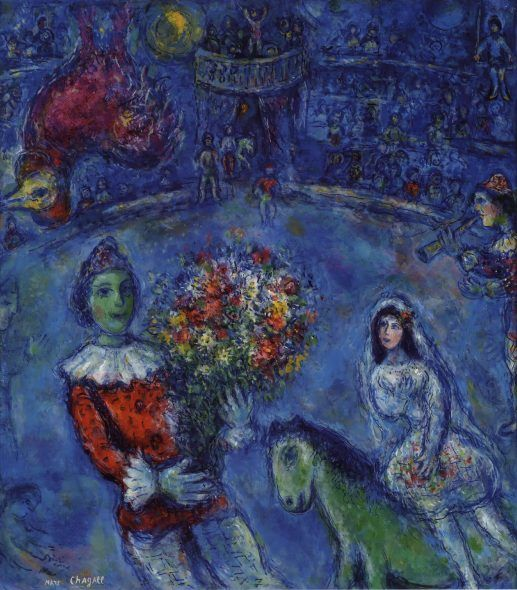 Marc Chagall Le Coq Violet, 1966-72 Oil, gouache and ink on canvas, 89,3x78,3 cm Private Collection, Swiss © Chagall®, by SIAE 2018