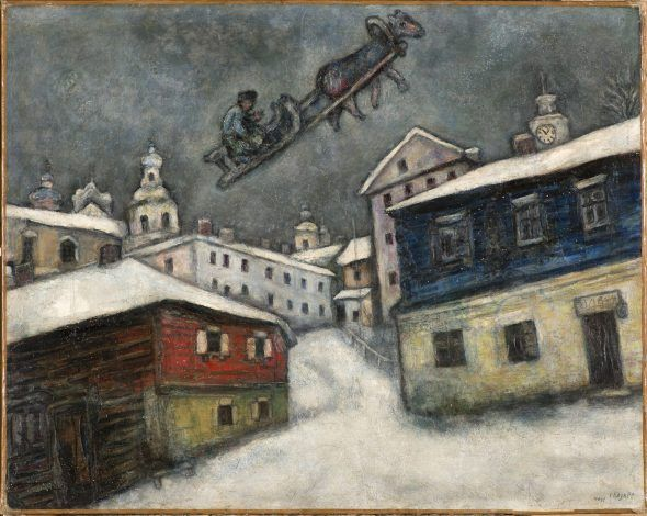 Marc Chagall Russian village, 1929 Oil on canvas, 73x92 cm Private Collection, Swiss © Chagall®, by SIAE 2018