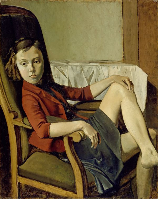 Balthus Thérèse, 1938 Oil on cardboard on wood, 100,3 x 81,3 cm The Metropolitan Museum of Art, New York, Bequeathed by Mr. and Mrs. Allan D. Emil, in honor of William S. Lieberman, 1987 © Balthus Photo: The Metropolitan Museum of Art/Art Resource/Scala, Florence