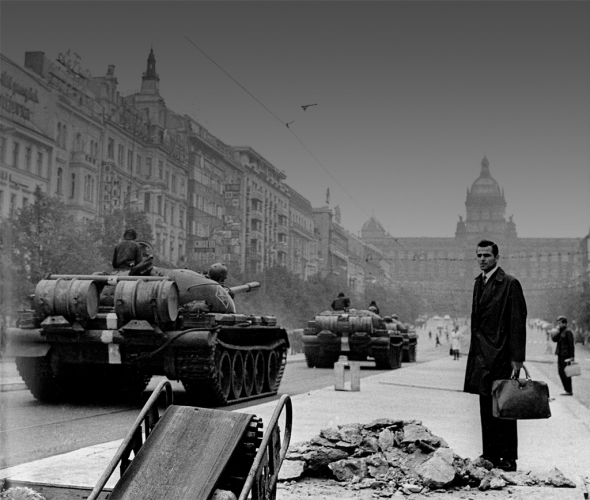 Jan Němec, The Soviet invasion to Prague (Czechoslovakia) on 21 August, 1968 (St Wenceslas Square).