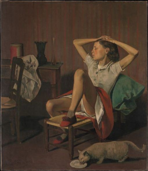 Balthus Thérèse Dreaming, 1938 Jacques and Natasha Gelman Collection, 1998 © 2018 Artists Rights Society (ARS), New York