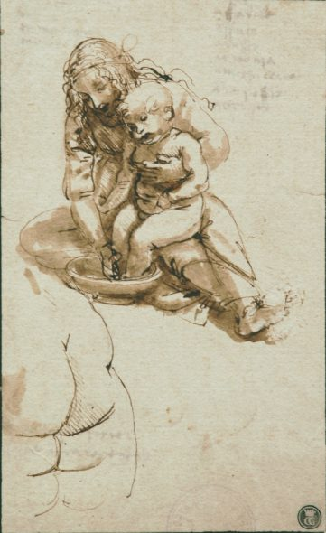 Leonardo da Vinci (1452-1519) Young Woman Washing a Child's Feet, c. 1478-80 Pen and brush in brown ink over traces of black chalk Faculdade de Belas Artes, Universidade do Porto, Porto