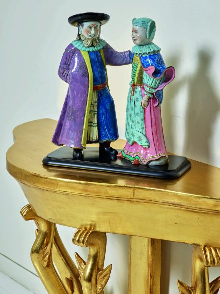 A Pair of Chinese Export Porcelain Figures of a Dutchman and a Lady, Estimate $ 100/150,000