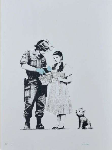 Banksy, Stop and Search, 2007, silkscreen on paper, Estimate: €30,000 - 35,000
