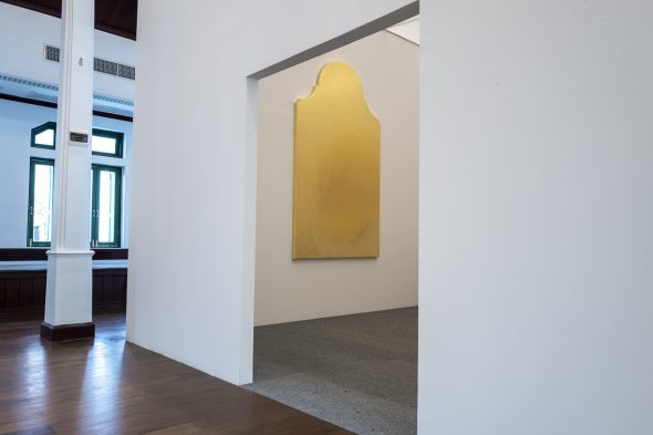 Paolo Canevari Monuments of the Memory, the Golden Room Installation, gilded wood, various measures Temple of the Iron Fence, Bangkok Courtesy the Artist and [dip] contemporary art, Lugano (CH) Ph. Carolina Sandretto